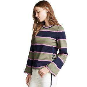 New Tory Burch Stripe Top Long Sleeve